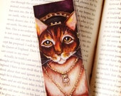 Anne Boleyn Cat, Henry VIII Tudor Cat Queen, Laminated Paper Bookmark