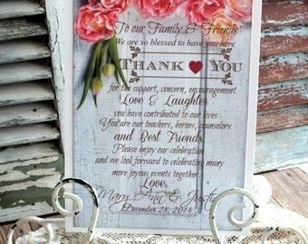 Vintage Romantic Thank You Wedding Sign Handmade by avintageobsession on etsy