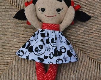 CUSTOM Calico Rag doll Baby Asian