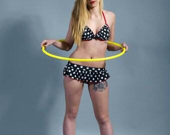 """maillot de bain à pois bikini vintage rétro """"betty Page"""""""
