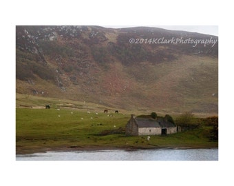 Scottish Stone Cottage Landscape Dream photography Highlands Rural Rustic Simple Home Decor Outlander Wishes