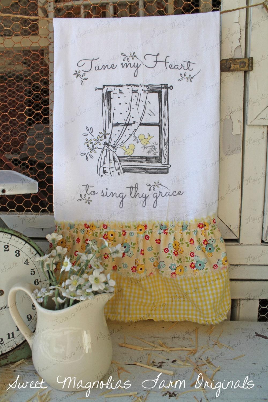 Flour Sack Kitchen Towel... Farmhouse by SweetMagnoliasFarm