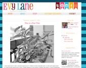 Premade Blogger Template Blog Design Theme Header - Installation Included- Teacher Pink Blue Multicolor Rainbow Flag Banner Stripes Evy Lane