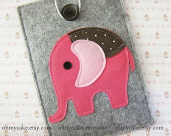 iPad Mini Elephant  Case, Kindle sleeve, Kindle Fire sleeve, Kindle Fire case, Kindle Paperwhite cover, Kindle cover, Kindle Touch case
