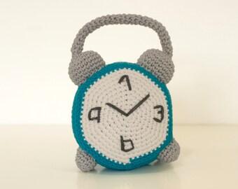 Crochet pattern alarm clock -  amigurumi clock pattern - Instant Download PDF by Bigunki