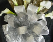 Wedding Broom with White Calla Lilies and White and Silver Accents, Jumping Broom, Decorative Broom