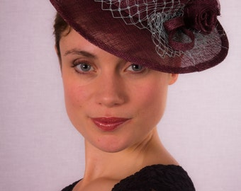 Burgundy miniature hat CLEARANCE REDUCED 40%