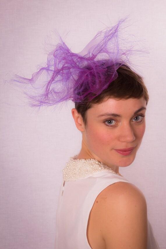 Abstract purple headpiece