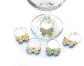 Wine Glass Charm - Wine Charms - Wedding Wine Glass Charms - Butterfly Wine Glass Charm - Gift for Teacher - hostess gift -