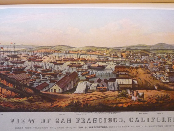 San Francisco Currier And Ives Fine Art Print From