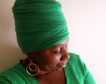Jazzina EZ Wrap - Ready Wrap- Stretch Wrap-Turban-Women Headwear- Sku: WWJ250- Choose a Length and Size
