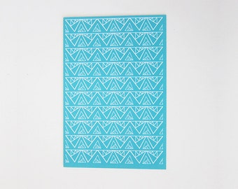 Triangles with Diamonds Print Greeting Card