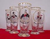 Six Wives of Henri VIII Pilsner Glasses Set of Six