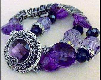 Baltimore Ravens Jewelry jewelry bracelets handmade Bracelet