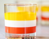 Set of 8 Perfect Vintage  Mid Century Georges Briard Tumbler / Old Fashioneds Glasses,