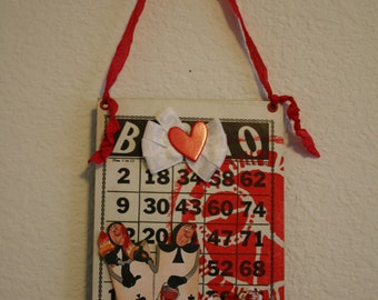 Alice in Wonderland Altered Bingo Card