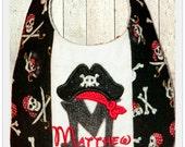Pirate Baby Bib Custom personalized