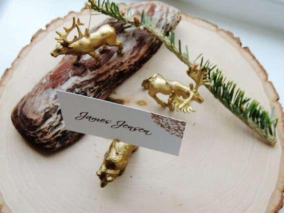 Gold animals for wedding
