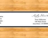 Gray Wrap Around Address Labels - Wedding address labels