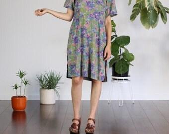 Pretty Floral Tunic Dress - Medium