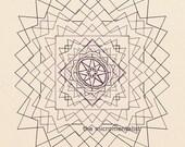 contemporary decor: dynamo. limited edition geometric DIY giclee print