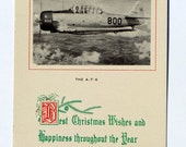 WWII Airplane Christmas Card, AT6 800, Greetings, Unmarked; Unique Military Ephemera