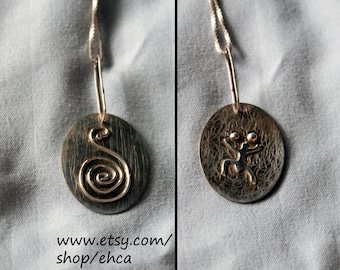 Handmade Taino Caracol with Coqui Necklace