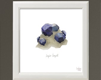 Lapis Crystal - Archival Print by Lindsay Nohl