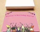 Party invitation, Instant Download, Party Invitation download, Birthday Party Invitation, Baby shower invitation, Printable Invitation, Pink