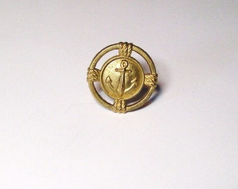Golden Anchor Tie Tack Mens Suit Accesssories, Mens fashion, Mens gift idea for Navy Sailor Fathers Day Birthday Gift