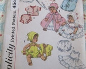 Vintage Simplicity Sewing Pattern 3218 Doll's Clothes for Betsy Wetsy and Tiny Tears 16 inch Doll