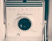 Photograph of Vintage Polaroid Camera / Land Camera 800 / wall art print / neutral home decor / camera art / retro wall decor / photographer
