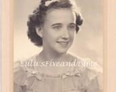 Vintage 1940's Studio Portrait - Pretty Girl