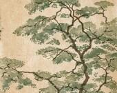 Original Hand Pulled Locust Tree Linocut Fine Art Print