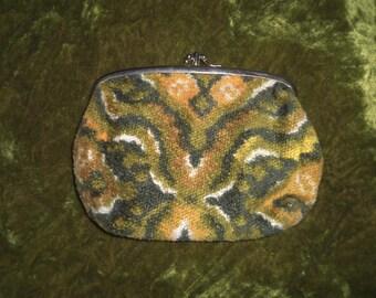 Carpet Bag Clutch 1960s Clutch Small Clutch Vintage Cosmetics Bag Makeup Bag Tapestry Clutch 60s Clutch Hippie Boho Bohemian Psychedelic