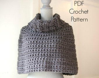 Crochet Pattern PDF Capelet Cowl Poncho Instant Download