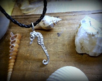 THE WATERHORSE. Dried seahorse Sterling Silver Replica Necklace. Handcast & Made to order.
