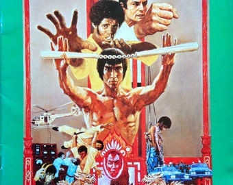 1973 ENTER THE DRAGON Movie Programme in Japanese