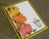 Give Thanks Card using Stampin' Up For All Things - Thanksgiving