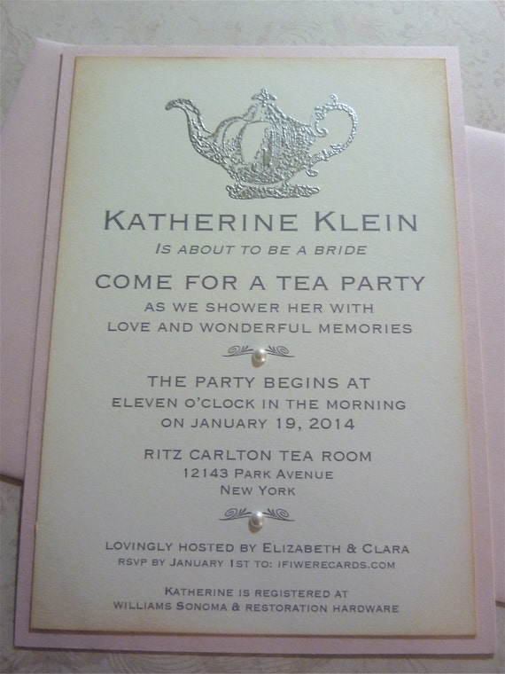 Bridal shower tea party invitation bride to be party for Etsy engagement party invites