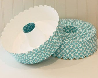 Disposable Bundt Cake Plate And Dome