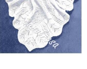 SALE****  Knitting Pattern - Heirloom Shawl - Baby shawl pattern