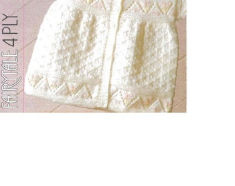 Download - BABY KNITTING PATTERN -  Cardigans and Sweater  - 16-20 inch chest