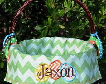 Christmas stockings easter baskets birthdays by sunshinedaydream4u personalized easter basket liners for girls or boys 5 colors to choose from negle Image collections