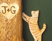 Cat Miniature Pet Portrait  Added to Your Birdhouse or Wedding Card Box Bird House