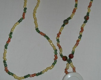 Clearance Necklace or Lanyard with retractable ID holder J136