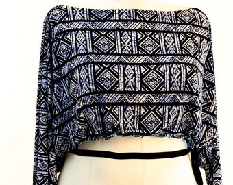 Plus Size Shrug Crop Top Bolero Coverup Fits sizes (14 -24) Royal White and Black