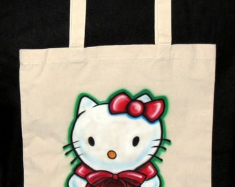 Airbrushed Hello Kitty Tote Bag