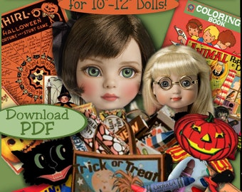 10 to 12 inch Doll HALLOWEEN Fun Stuff Printouts for Tonner PATSY Ann Estelle Kish Chrysalis Shirley Temple Bluette pdf