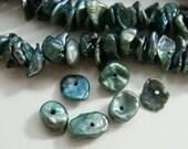 Fresh Water Keshi Pearls, Very Pretty Green Tiny Freshwater Pearls, 40 pcs, 6-7mm